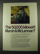 1969 Marsh & McLennan Ad - 50,000 Kilowatt
