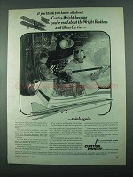 1969 Curtiss-Wright Aerospace Ad - Wright Brothers