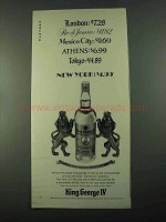 1969 King George IV Scotch Ad - London $7.28