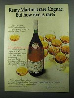 1969 Remy Martin Cognac Ad - But How Rare is Rare?