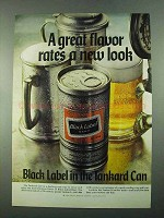 1969 Carling Black Label Beer Ad - Rates a New Look