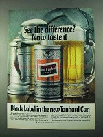 1969 Carling Black Label Beer Ad - See The Difference?
