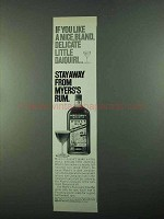 1969 Myers's Rum Ad - Bland, Delicate Little Daiquiri