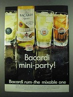 1969 Bacardi Rum Ad - Mini-Party - 7up Pepsi Club Soda