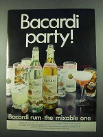 1969 Bacardi Rum Ad - Bacardi Party!