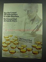 1969 Old Grand-Dad Bourbon Ad - 28 Taste Testers