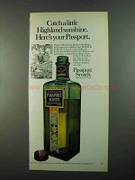 1969 Passport Scotch Ad - Catch Highland Sunshine