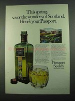 1969 Passport Scotch Ad - Savor Wonders of Scotland