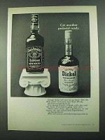 1969 George Dickel Whisky Ad - Get Pedestal Ready