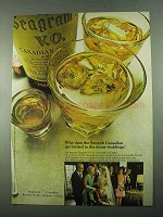 1969 Seagram's V.O. Canadian Whisky Ad - Weddings