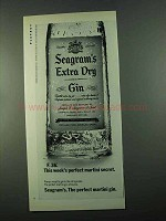 1969 Seagram's Extra Dry Gin Ad - F. 36
