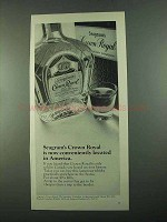 1969 Seagram's Crown Royal Bourbon Ad - Conveniently