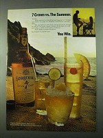 1969 Seagram's 7 Crown Whiskey Ad - Vs. The Summer
