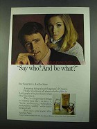 1969 Seagram's 7 Crown Whiskey Ad - Say Who?