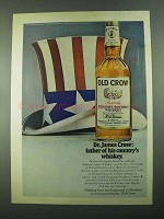 1969 Old Crow Bourbon Ad - Father of His Country's