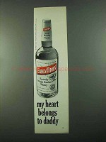 1969 Early Times Bourbon Ad - Heart Belongs to Daddy