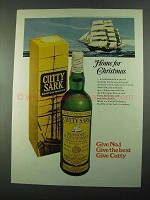1969 Cutty Sark Scotch Ad - Home for Christmas