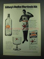 1969 Gilbey's Vodka Ad - Martinski Kit