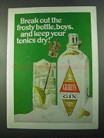 1969 Gilbey's Gin Ad - the Frosty Bottle