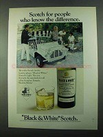 1969 Black & White Scotch Ad - Know the Difference