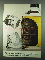 1969 Chivas Regal Scotch Ad - Generous with Ice Cubes