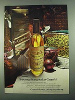 1969 Grant's 8 Scotch Ad - Is Your Gift As Good As