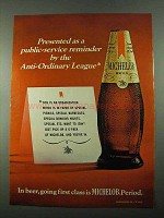 1969 Michelob Beer Ad - Anti-Ordinary League