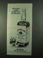 1969 Jim Beam Bourbon Ad - We've Been Worthy of Trust