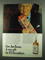 1969 Jim Beam Bourbon Ad - Give A Rare Gift