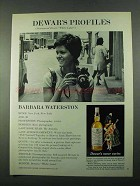 1969 Dewar's White Label Scotch Ad - Barbara Waterston