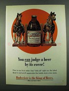 1969 Budweiser Beer Ad - You Can Judge By Its Cover