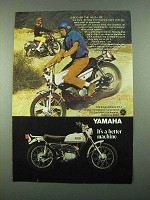 1969 Yamaha 125 Single Enduro AT-1 Motorcycle Ad - Discover