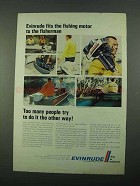 1969 Evinrude Outboard Ad - Fisherman, Lightwin