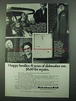 1969 KitchenAid Dishwashers Ad - 3 Happy Families