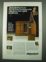 1969 Admiral Mediterranean Model 3L598M TV Ad
