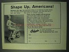1969 Columbia Cycle Exercisers Ad - Shape Up