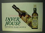 1969 Inver House Scotch Ad - Soft as Kiss