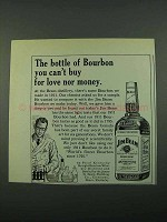 1969 Jim Beam Bourbon Ad - For Love Nor Money