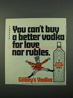 1969 Gilbey's Vodka Ad - For Love Nor Rubles