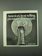 1969 Taylor Champagne Ad - America's Best Selling