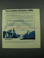 1969 Alitalia Airlines Ad - Two Weeks At Home $499