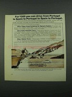 1969 Alitalia Airlines Ad - You Can Drive From Portugal