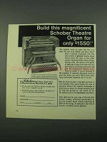 1969 Schober Theatre Organ Ad - Build This Magnificent