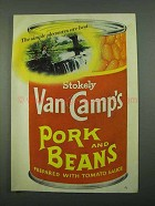 1969 Van Camp's Pork and Beans Ad - Pleasures