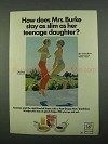 1969 Post Grape-Nuts Cereal Ad - Mrs. Burke Stay Slim