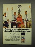 1969 Gillette Right Guard Anti-Perspirant Ad - Cover Up