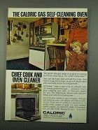 1969 Caloric Gas Ultra-Clean Range Ad - Self-Cleaning