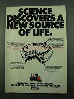 1969 Mallory Duracell Batteries Ad - New Source of Life
