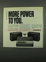 1969 Ampex Micro 86 Stereo Cassette Player/Recorder Ad