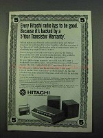 1969 Hitachi Ad - KH-930 Radio, KS-2200 Radio